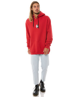 RED MENS CLOTHING STUSSY JUMPERS - ST081200RED