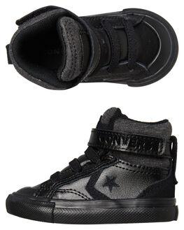 BLACK BLACK KIDS BOYS CONVERSE FOOTWEAR - 762818BKBK