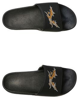BLACK GOLD MENS FOOTWEAR RUSTY SLIDES - FOM0337BLK
