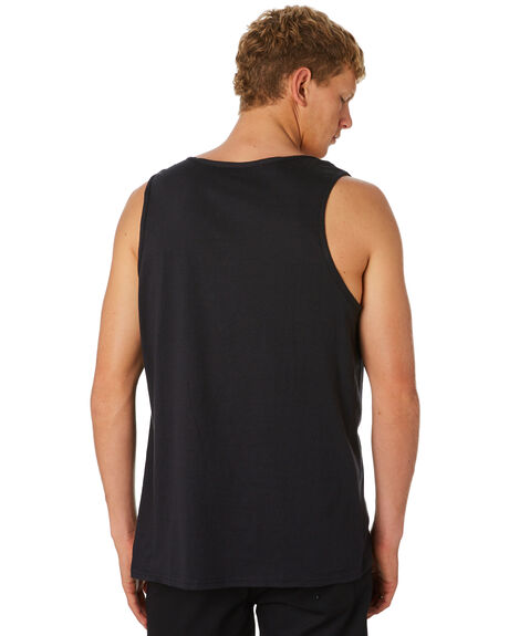 BLACK WHITE MENS CLOTHING HURLEY SINGLETS - 892170012