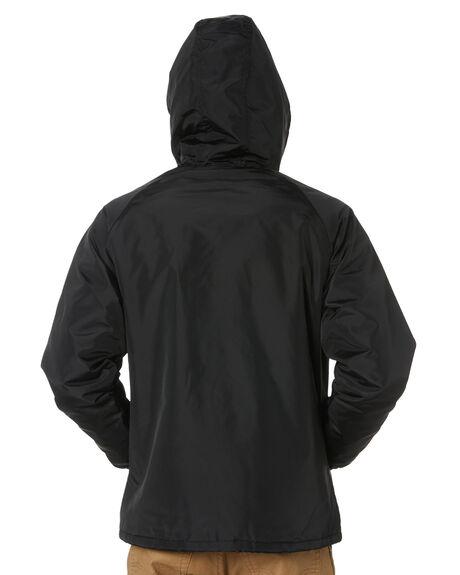 BLACK MENS CLOTHING BRIXTON JACKETS - 03209BLK