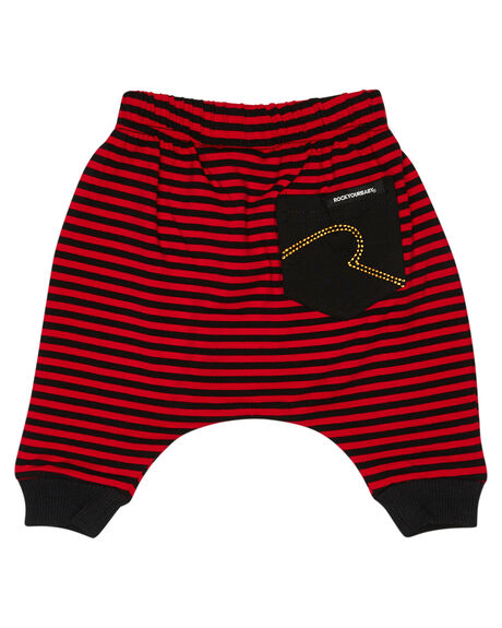 RED BLACK KIDS BABY ROCK YOUR BABY CLOTHING - BBP195-SRRDBLK