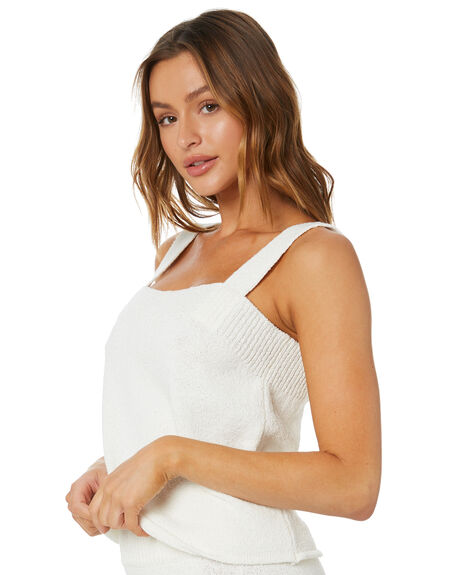 WHITE WOMENS CLOTHING ZULU AND ZEPHYR FASHION TOPS - ZZ3357WHT