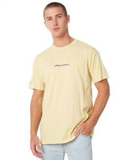 PASTEL YELLOW MENS CLOTHING STUSSY TEES - ST085000PYLW