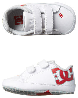 WHITE ATHLETIC RED KIDS BABY DC SHOES FOOTWEAR - 320039SDU