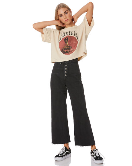FADED BLACK WOMENS CLOTHING THRILLS JEANS - WTDP-432BFFDBLK