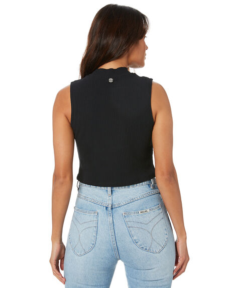 BLACK WOMENS CLOTHING ALL ABOUT EVE SINGLETS - 6463271BLK