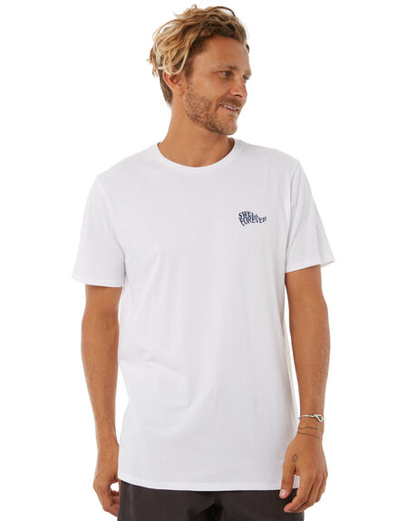 WHITE OUTLET MENS SWELL TEES - S5183015WHITE