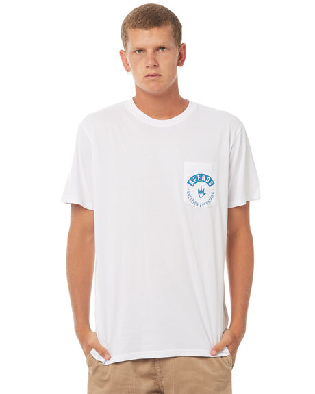WHITE NAVY MENS CLOTHING AFENDS TEES - 01-01-278WHTN