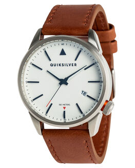 SILVER WHITE BROWN MENS ACCESSORIES QUIKSILVER WATCHES - EQYWA03027XSWC