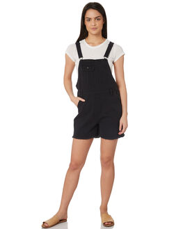 WASHED BLACK WOMENS CLOTHING SILENT THEORY PLAYSUITS + OVERALLS - 6093122WBLK