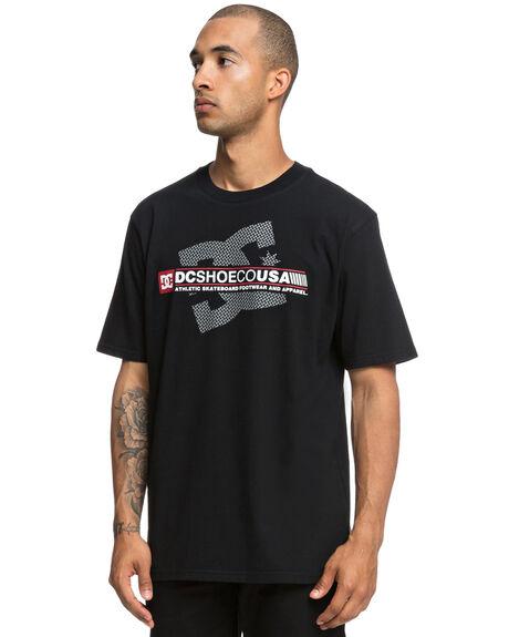 BLACK MENS CLOTHING DC SHOES TEES - UDYZT03556BLK