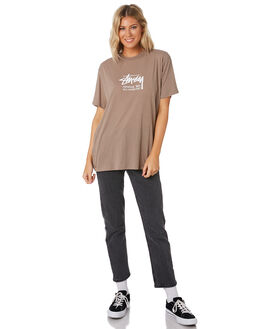 FLAT GREY WOMENS CLOTHING STUSSY TEES - ST191011FGRY