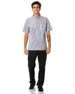 BLACK MENS CLOTHING HUF SHIRTS - BU00067-BLACK