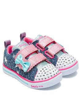 DENIM KIDS GIRLS SKECHERS FOOTWEAR - 341037NDMLT