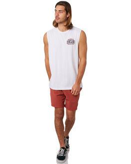 WHITE MENS CLOTHING DEUS EX MACHINA SINGLETS - DMS81711BWHT