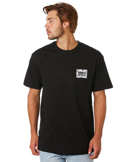 BLACK MENS CLOTHING OAKLAND SURF CLUB TEES - SS19T4001BLK