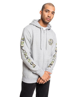 GREY HEATHER/CAMO MENS CLOTHING DC SHOES JUMPERS - EDYSF03216-XSSC