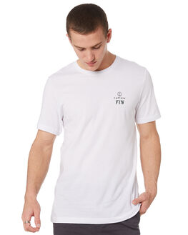 WHITE MENS CLOTHING CAPTAIN FIN CO. TEES - CT192006WHT