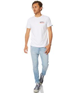 WHITE MENS CLOTHING DEUS EX MACHINA TEES - DMF71826CWHT