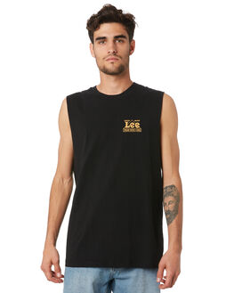 FADED BLACK MENS CLOTHING LEE SINGLETS - 601953A98