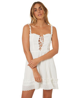 WHITE WOMENS CLOTHING SOMEDAYS LOVIN DRESSES - IL18F2479WHT