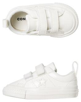 VINTAGE WHITE KIDS TODDLER GIRLS CONVERSE FOOTWEAR - 762521CVWHT