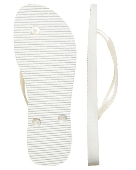 WHITE WOMENS FOOTWEAR HAVAIANAS THONGS - HSMS0001WHI