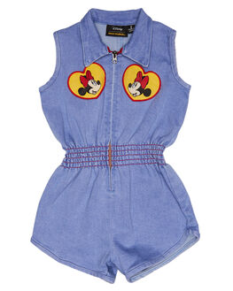 LIGHT BLUE KIDS TODDLER GIRLS ROCK YOUR BABY PLAYSUITS + OVERALLS - TGB1839-MPLBLUE