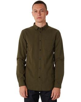 CAMO GREEN MENS CLOTHING DR DENIM SHIRTS - 1111108327