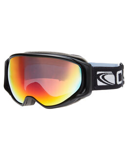 MATT BLK ORANGE REVO SNOW ACCESSORIES CARVE GOGGLES - 6101BKOR