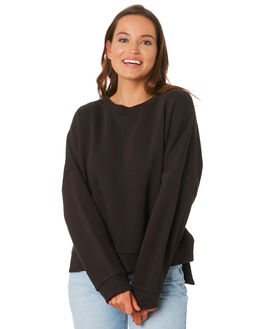 WASHED BLACK WOMENS CLOTHING NUDE LUCY JUMPERS - NU23587WASHB