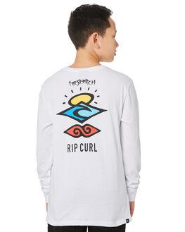 WHITE KIDS BOYS RIP CURL TOPS - KTEQV21000