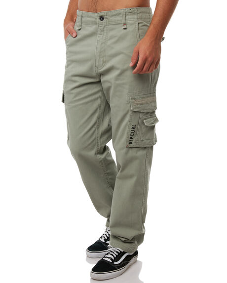 LIGHT GREEN MENS CLOTHING RIP CURL PANTS - CPADC14820