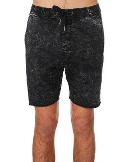 BLACK ACID MENS CLOTHING ZANEROBE SHORTS - 608-RSPBLKAC