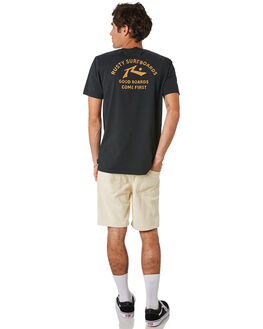 BLACK MENS CLOTHING RUSTY TEES - TTM2345BLK