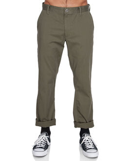 DARK KHAKI MENS CLOTHING RVCA PANTS - R383273DKHA