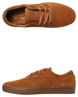TAN GUM MENS FOOTWEAR EMERICA SKATE SHOES - 6102000123-291