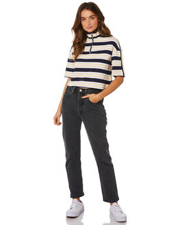 NAVY WHITE STRIPE WOMENS CLOTHING SILENT THEORY TEES - 6033044-STR
