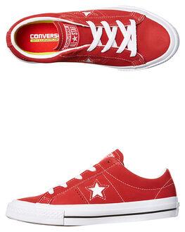 RED WHITE KIDS BOYS CONVERSE SNEAKERS - 353063RED