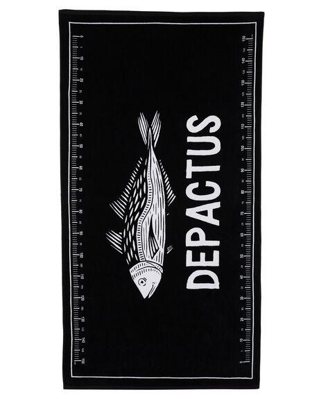 BLACK MENS ACCESSORIES DEPACTUS TOWELS - D51821801BLACK