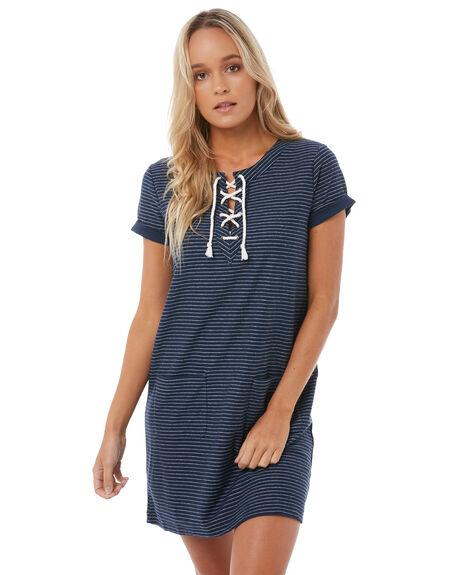 DRESS BLUES WOMENS CLOTHING ROXY DRESSES - ERJKD03169BTK0