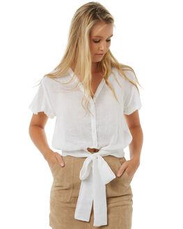 WHITE WOMENS CLOTHING RUE STIIC FASHION TOPS - SO1751LWHT