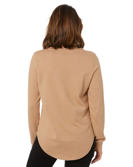BROWN WOMENS CLOTHING SILENT THEORY JUMPERS - 6074039BRWN