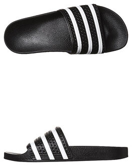 BLACK WHITE BLACK MENS FOOTWEAR ADIDAS SLIDES - SS280647BLKM