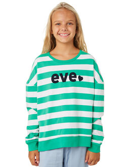 DEEP MINT WHITE KIDS GIRLS EVES SISTER JUMPERS + JACKETS - 9530008GRN