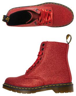 RED WOMENS FOOTWEAR DR. MARTENS BOOTS - SS24839602REDW