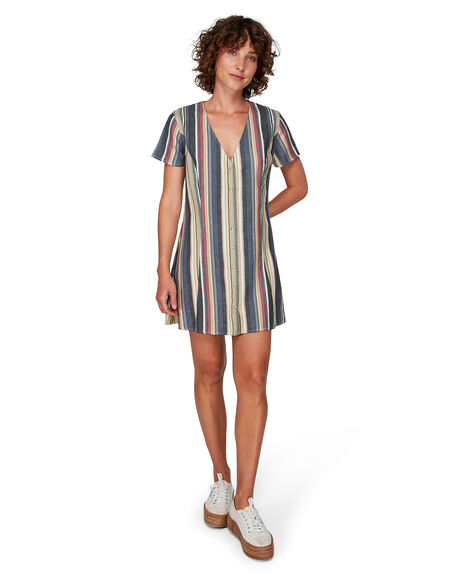 BLACK WOMENS CLOTHING RVCA DRESSES - RV-R292751-BLK