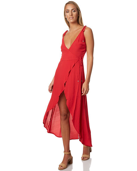 RED WOMENS CLOTHING MINKPINK DRESSES - MP1610459RED