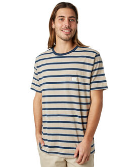 BEIGE STRIPE MENS CLOTHING BARNEY COOLS TEES - 109-CR2BSTRP